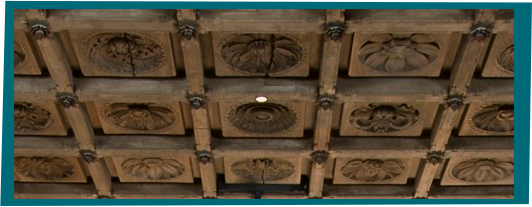 Ceiling Lotus Motif