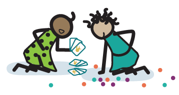 Illustration of kids collecting